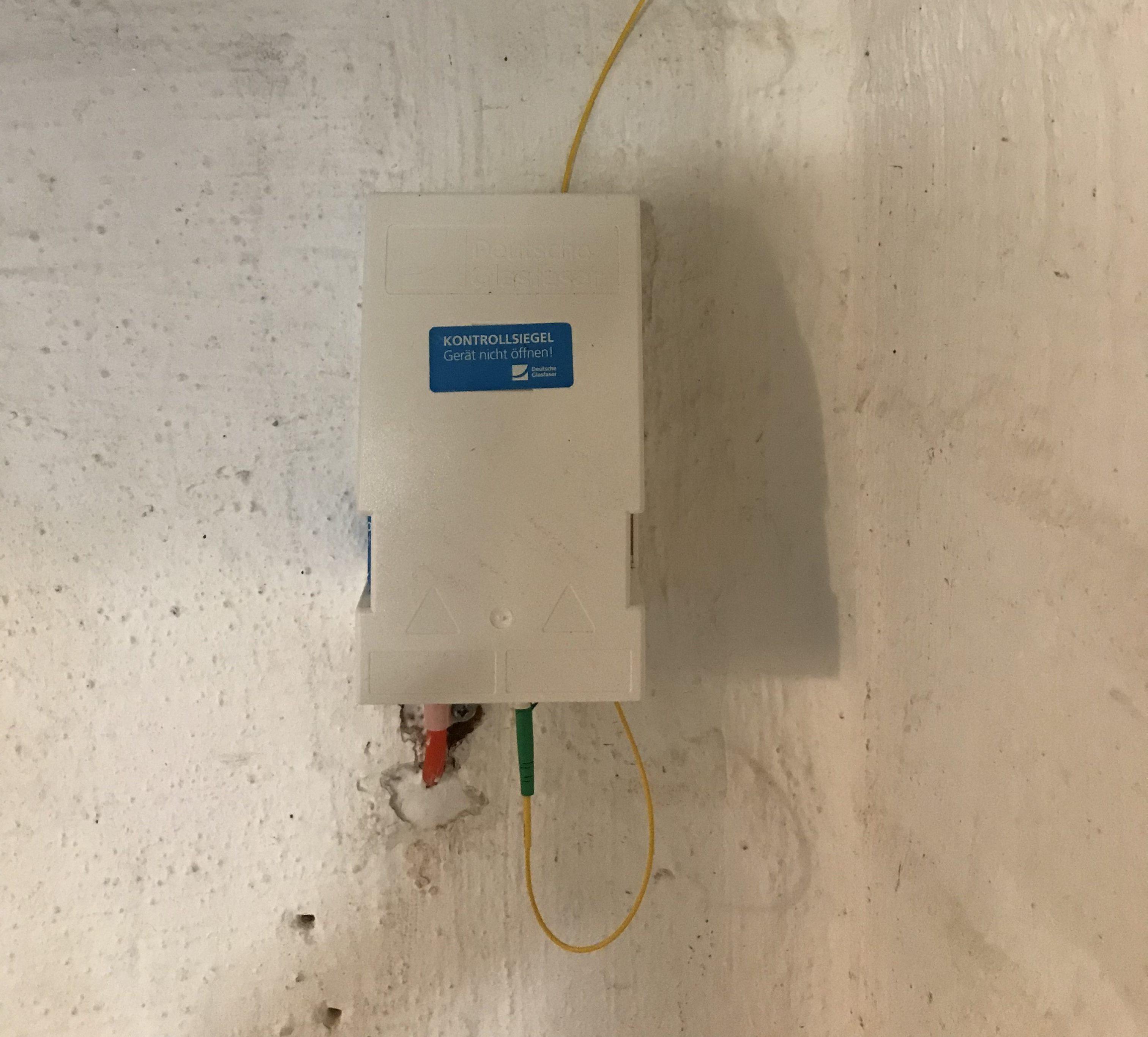 Hausübergabepunkt (HÜP) mit abgehendem LC/APC Patchkabel